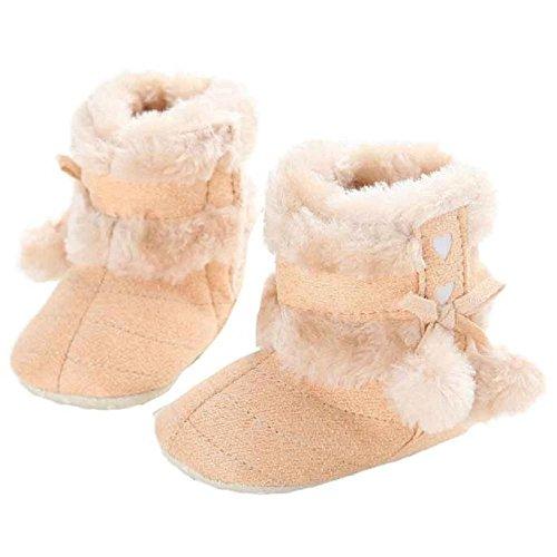 Covermason Bébé doux unique bottes doux berceau Chaussures enfant bottes (12, rouge) jaune