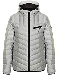 96d3fee3 Dissident Mens Bubble Jacket Coat Hoodie Reflective Quilted Padded Pinnacle  Warm