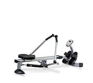 JK Fitness 5070 Vogatore Richiudibile, Silver/Nero