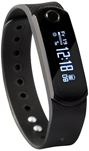SportPlus Q-Band X, Smartwatch, Aktivitäts-/Schlaftracker, OLED Display, 3 austauschbare Bänder, für iOS und Android, SP-AT-BLE-20