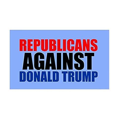 CafePress - Anti Trump Republican - Rectangle Bumper Sticker Car Decal