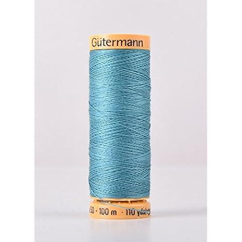 Gutermann cotone naturale 100m Quilting macchina da cucire per cucire verde–7325 - Naturale Di Cotone Per Cucire