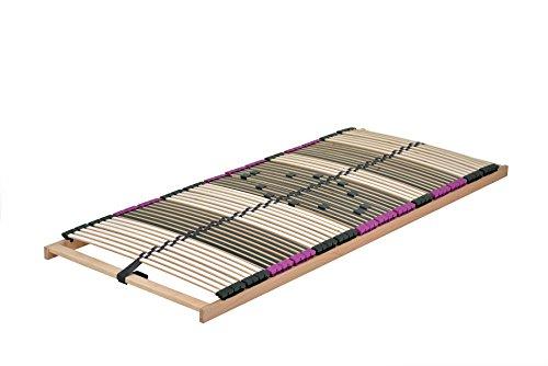 DaMi Premium NV 7 Zonen Lattenrost 80x190cm Verstellbar Buche mit 6 Fach Härteverstellung Wohn- und Schlafsysteme I Bettenrost Matratzenrost Federholzrahmen Holzlattenrost Lattenrahmen (80 x 190 cm)