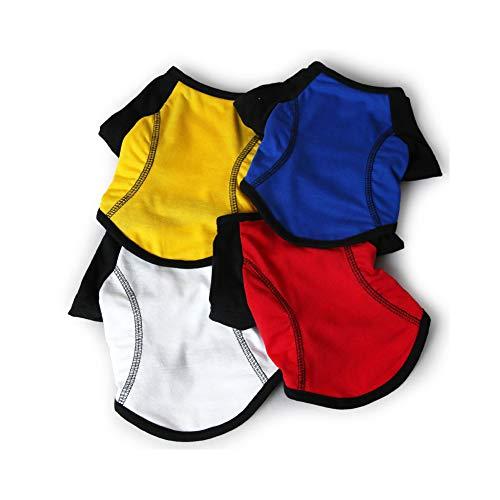 kakakooo Die Kleidung für die Haustiere, T-Shirt Herbst stilvollen Haustier Hund Sportkleidung Welpen-Hündchen-Kostüm (1pcs L)