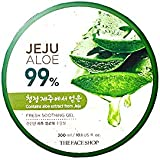 The Face Shop Non-Sticky Transparent 3 in 1 Aloe Fresh Soothing gel for Skin, Body and Hair |Reduces Dark Spots and Acne,300ml
