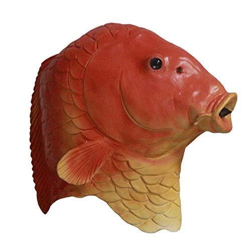 ween Tierkopf Maske Kreatur Aus Der Schwarzen Lagune Fisch Maske Erwachsene ()