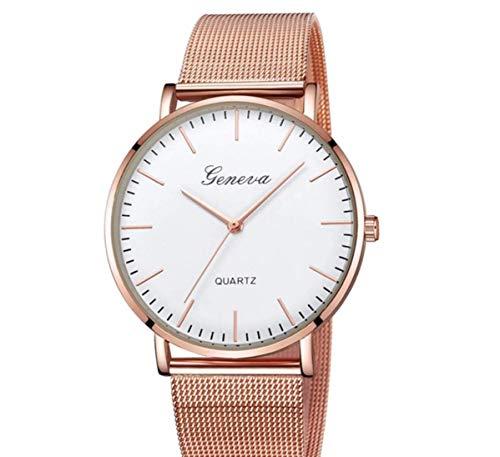 Geneva - Reloj de señora de Oro Rosa con Pulsera de Acero