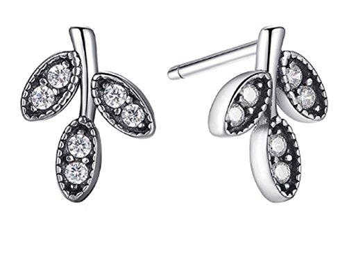 saysure-925-sterling-silver-sparkling-leaves-stud-earrings