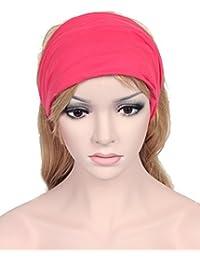 Calonice Amorino Frauen Accessoire Stirnbänder Schwarz Fashion Style Weit Kopf-Verpackung Bandana Solide Baumwolle breite elastische eine Größe 24x2x18 cm (LxHxB) 34800