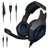 Maono AU-A1 Over-Ear Stereo Gaming Headphones (Blue and Black)