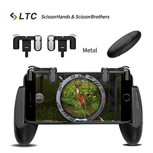 LTC-Sries-de-Ciseaux-Jeu-de-Contrleur-pour-Mobile-Include-LTC-ScissorHands-Trigger-M2-and-LTC-ScissorBrothers-Titulaire-H1-Compatible-avec-45-64-Smartphone-Noir