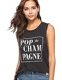 Ropa Mujeres Camisetas sin Mangas Tank Top,❤☀ Verano Cute Letra Impreso Casual Blusa