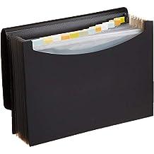 AmazonBasics Expanding File Folder, Letter Size (Fits A4 Paper) - Black - with 13 pockets