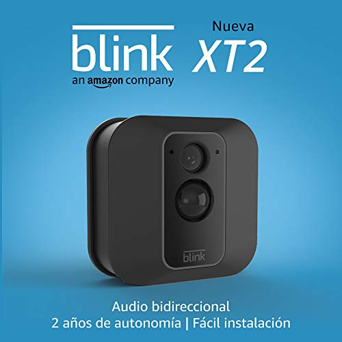 Nueva Blink XT2 | Cámara de seguridad inteligente,  exteriores e interiores,  almacenamiento en el Cloud,  audio bidireccional,  2 años de autonomía | 1 cámara