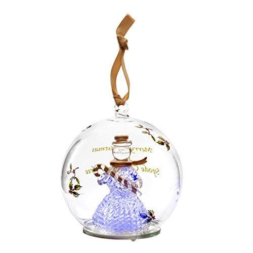 Spode Christmas Tree Glass Ornament, Snowman by Spode Spode Christmas Tree Glass