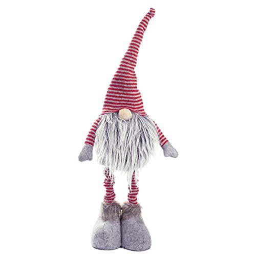 Xuthuly Weihnachten Puppen Weihnachten Neujahr DIY gestreiften gesichtslosen Toy Santa Claus Dekorationen