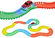 Popsugar Magic Tracks The Amazing Racetrack That Can Bend, Flex and Glow 168pcs, Multicolor
