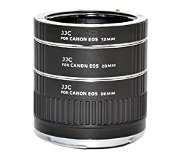 JJC AET-CS Auto Extension Tube Set with 12mm, 20mm and 36mm