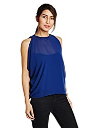 AND Womens Body Blouse Shirt (AW16AB39T180INK BLUE10)
