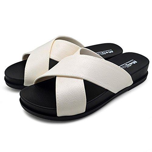 polliwoo-estate-sandali-della-da-donnainfradito-unisex-adulto-moda-scarpe-7-uk-39-eu-bianco