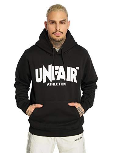Unfair Athletics Herren Sweater Classic Label Hoodie UNFR18-075 Schwarz Black, Größe:XL