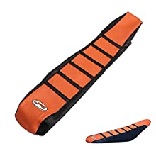 JFGRACING Orange/Black Gripper Soft Motorcycle Seat Cover For K.T.M 65 85 105 125 144 150 200 250 300 450 500 530 XC EXC SX SXF 07-14