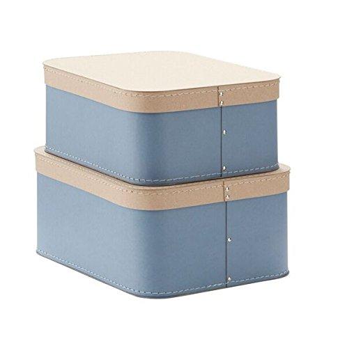 Kids Concept Pappboxen eckig 2-Set, blau