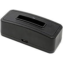 Estación de carga de batería 1301 para Fujifilm FinePix XP90;adecuado para la batería Casio NP-80 / NP-82, Fuji NP-45 / NP-45A / NP-45S, Kodak KLIC-7006, Nikon EN-EL10, Olympus LI-40B
