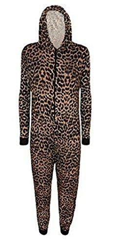 Comfiestyle - Combinaison - Combinaison - Manches Longues - Femme Motif léopard Marron
