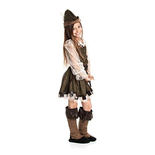 Kostümplanet® Robin Hood Mädchen Kinder Kostüm Lady Marian Robin Hood Kinderkostüm Größe (Für Kinder Robin Kostüm)