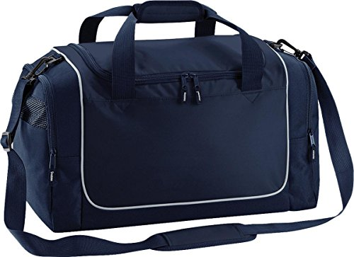 Quadra Sport Reisetasche Aufbewahrung Reise Gepäck Duffle Teamwear Spind Tasche One Size - French Navy/ Light Grey