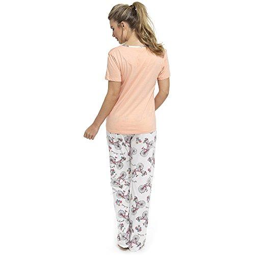 Tom Franks Damen Schlafanzug Pfirsich