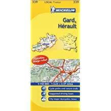 Michelin Map France: Gard, Hrault 339 (Maps/Local (Michelin)) (English and French Edition) by Michelin (2011-01-16)