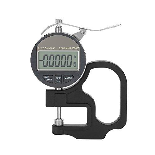 Digitale Dickenmessgerät für Papier Leder Tuch Draht Messwerkzeug Bereich 0-12,7mm 0,001mm