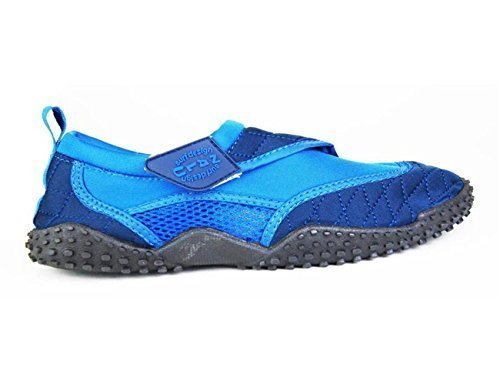 Nalu , Mädchen Aquaschuhe, - Blue with Navy Trim - Größe: Kids UK 11 / EU 29 (Trim Navy Kinder Schuhe)