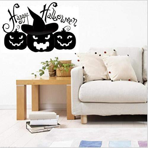 HAIMACX Wandaufkleber Halloween Kürbis New Halloween Kürbis Happy Window Abnehmbare Dekoration @ 39 * 57Cm