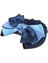 Baoblaze Redecilla de Pelo con Lazo para Mujer - Azul