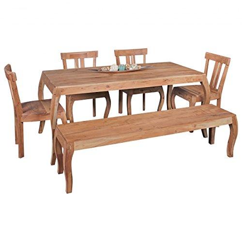 Esszimmertisch Massivholz Akazie Esstisch 160 x 80 cm Küchentisch Landhaus Holztisch Naturprodukt Esszimmermöbel