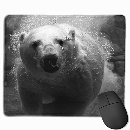 keiwiornb Polar Bear in Cold Ice Personalized Design Mouse Pad Gaming Mouse Pad with Stitched Edges Mousepads, Non-Slip Rubber Base, 9.8x12 Inch/25 X 30cm, 3mm Thick - Best Gift Idea