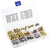 116 piezas Insertos ranurados de rosca autorroscante y juego de combinación de insertos de rosca de