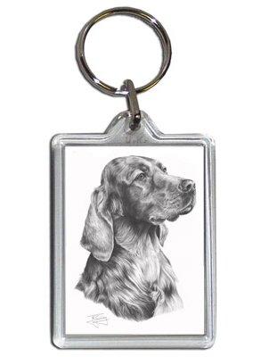 Mike Sibley Irish Setter Hund Schlüsselanhänger (Setter Schlüsselanhänger)