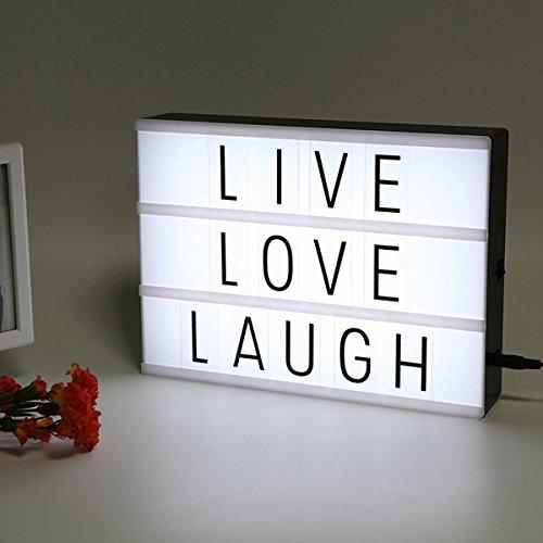 wuchance LED USB Nachtlicht Box mit A4 Brief Karte DIY Kombination für Hochzeit Weihnachtsdeko (Color : Light Box Black Card) (Card-boxen Für Hochzeit)