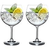 Giant BOHEMIA CRYSTAL MAXIMA Wine gin tonic Glass cup 820ml / 29 oz XXL -set of 2-