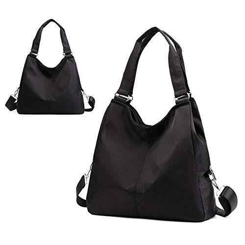 Beauty Case da Viaggio BorsaBorsa a tracolla portatile in tessuto leggero in nylon a tracolla nera per donna