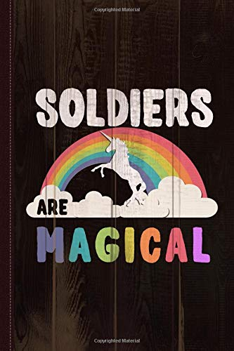 Soldiers Are Magical Journal Notebook: Blank Lined Ruled For Writing 6x9 110 Pages por Flippin Sweet Books