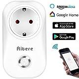 Intelligente Steckdose Wlan Alexa, Aitere Funksteckdosen Alexa Schalter Outlet Mini mit Timing-Funktion für IOS / Android, funktioniert mit Amazon Alexa [Echo, Echo Dot]& Google Home, Steuern Geräte von überall und jederzeit