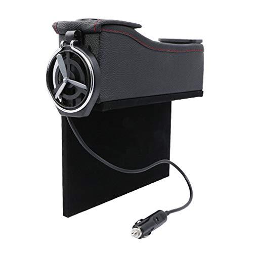 Car storage box Boîte de Rangement pour Voiture, Convient à la boîte de Rangement pour Fente pour siège de Voiture, boîte de Rangement en Cuir pour Voiture USB