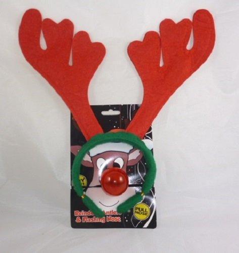 Natale corna di renna e naso lampeggiante set