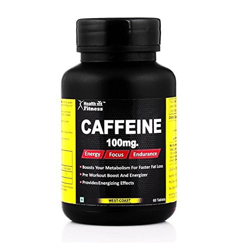 Healthvit Fitness Caffeine 100 mg - 60 Tablets (Energy, Focus & Endurance)