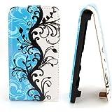 Butterfly Handy Tasche Flip Case Schutz Hülle für LG P710 Optimus L7 II 2 Flower Design Muster OJC-357 Cover Etui Bag Neu